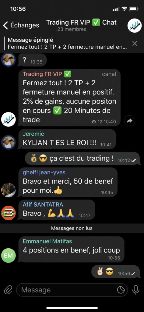 Kylian Marlier avis Témoignages canal VIp