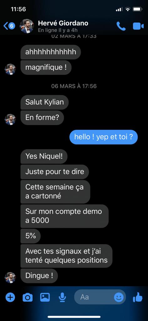 kylian marlier avis Témoignage Hervé
