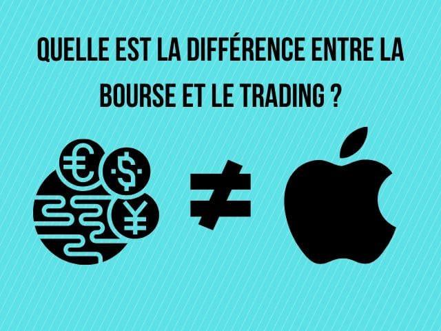 Quelle est la différence entre la bourse et le trading