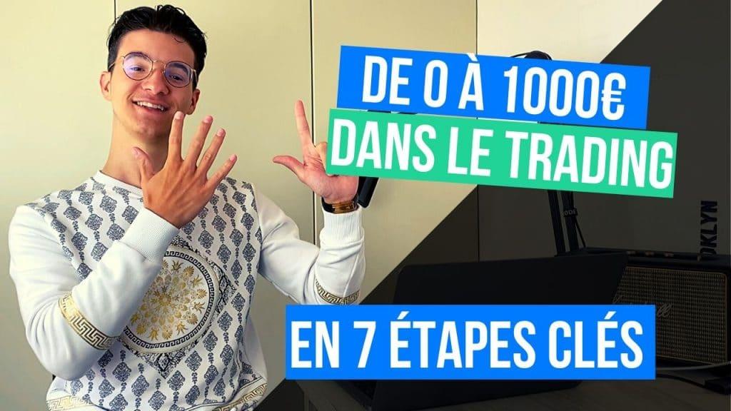 De 0 à 1000€ dans le trading en 7 étapes clés