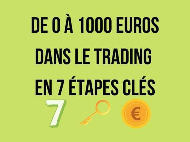 De 0 à 1000 euros dans le trading en 7 étapes clés