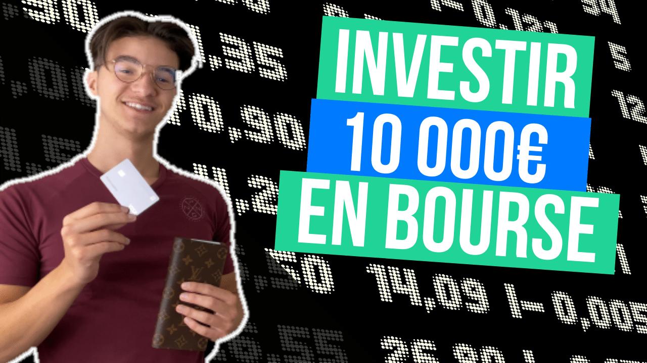 investir 10000 euros en bourse