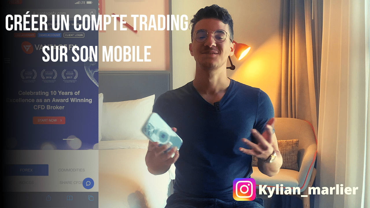 Créer un compte trading sur son mobile