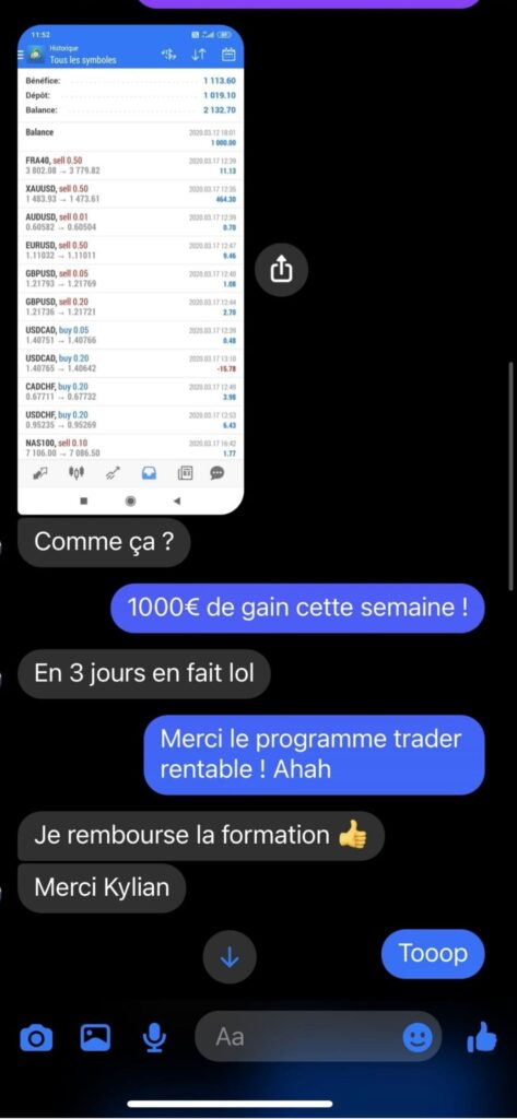 kylian marlier avis formation trading témoignage